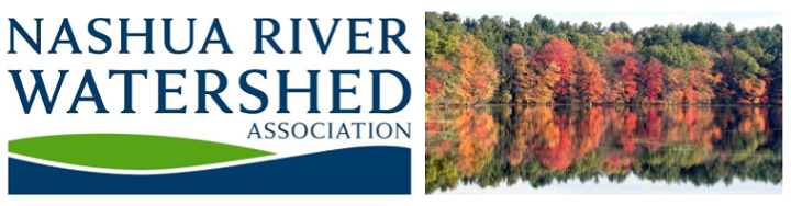 NRWA logo and trees with fall color along the Nashua River
